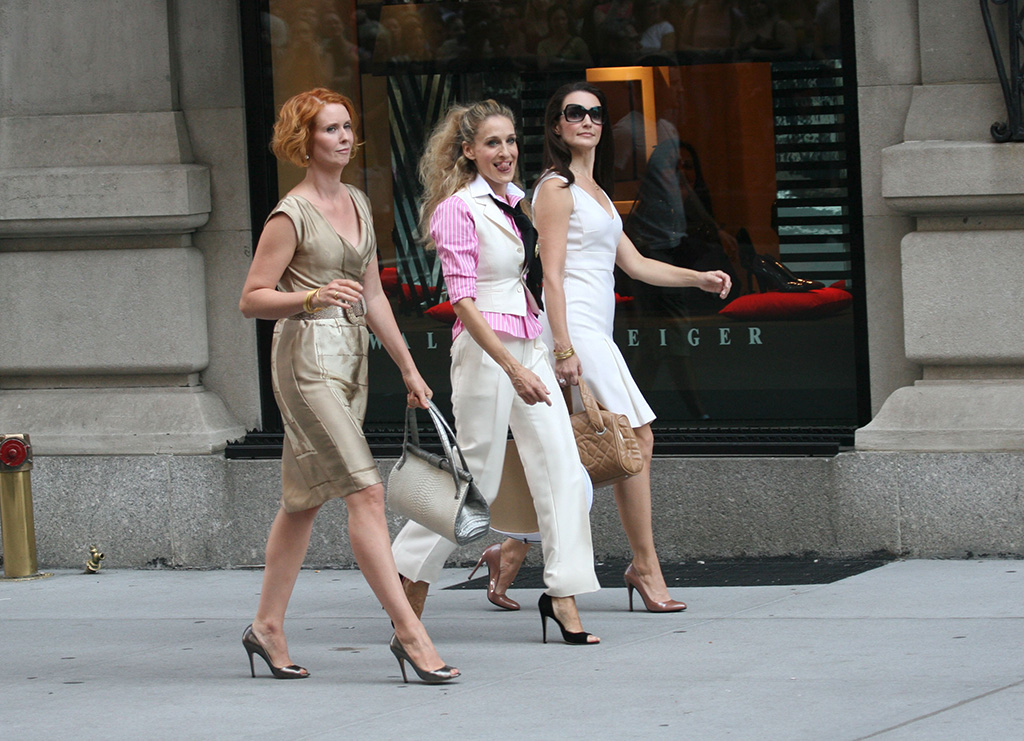 satc the movie, sjp, movies with shoe moments