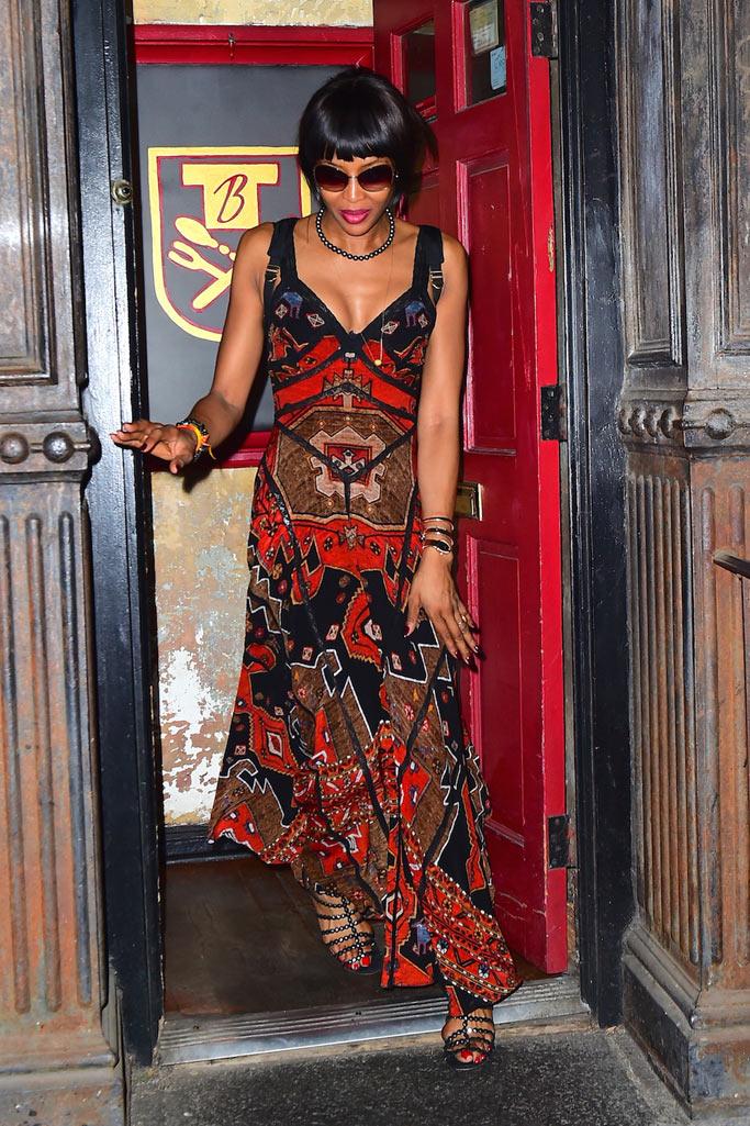 Naomi Campbell Alaia Sandals