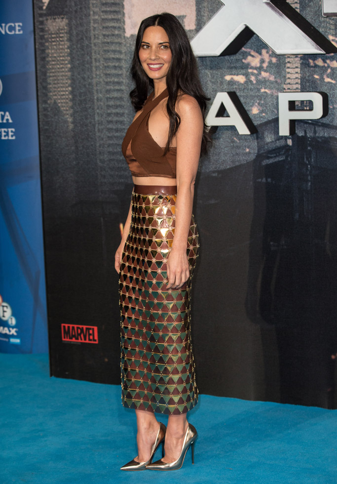 Olivia Munn Celebrity Statement Shoes May 2016