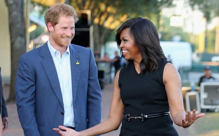 Prince Harry Michelle Obama Invictus Games