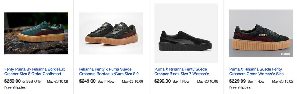 Fenty Puma Rihanna Creepers eBay