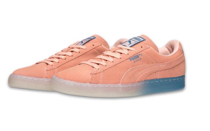 puma pink dolphin sneakers suede
