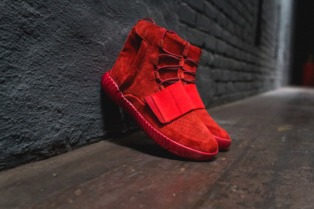 Custom Red Adidas Yeezy 750s The Shoe Surgeon