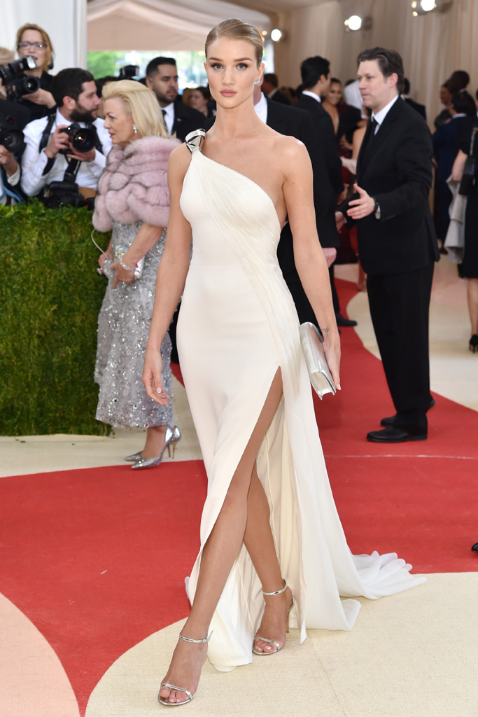Rosie Huntington Whitely Met Gala 2016 Red Carpet Shoes