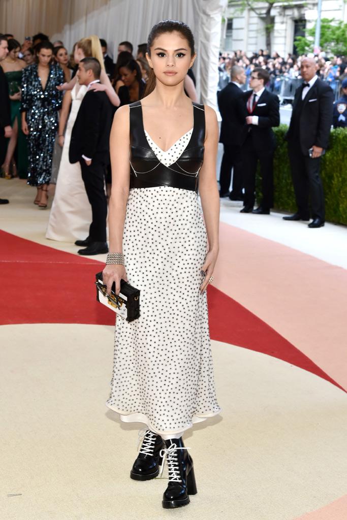 Selena Gomez Met Gala 2016 Red Carpet Shoes