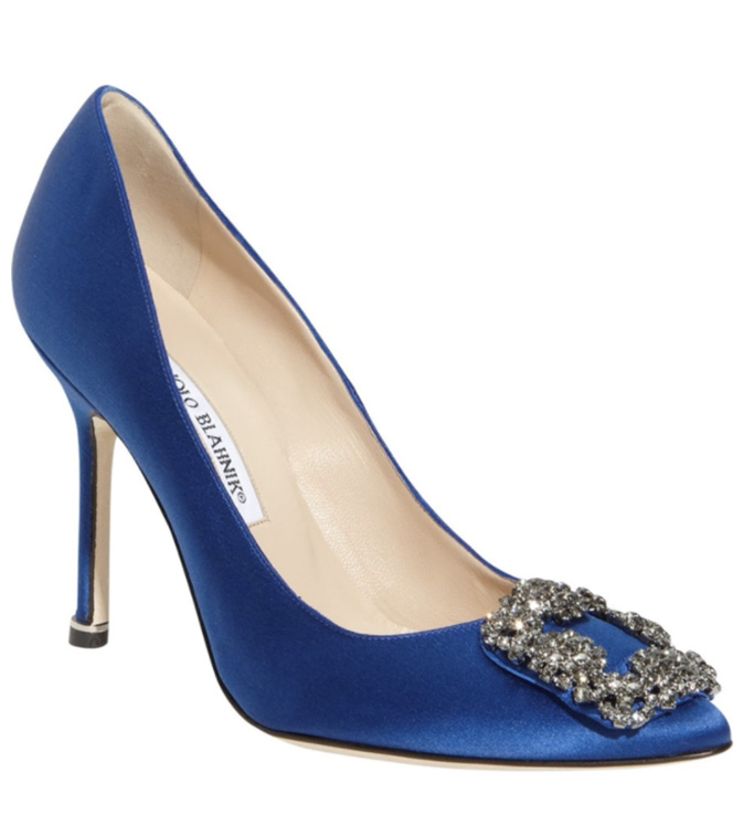 satc manolo blahnik, movies with shoe moments, blue heels