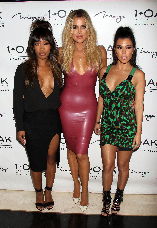 Malika Haqq Khloe Kardashian Kourtney Kardashian christian louboutin scott disick 1oak