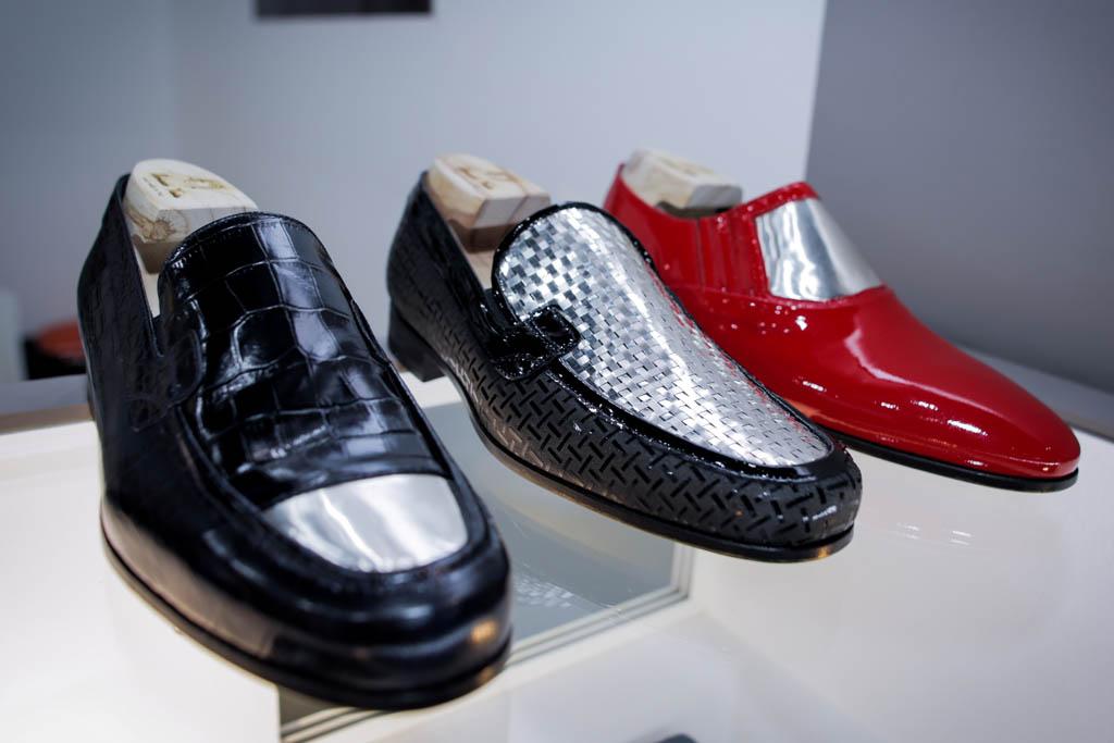 gold shoes silver platinum italy dubai leatherworld