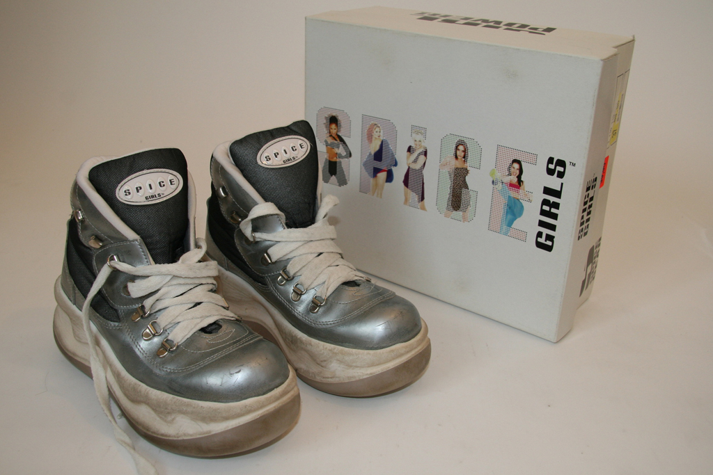 spice girls shoes sneakers exhibit