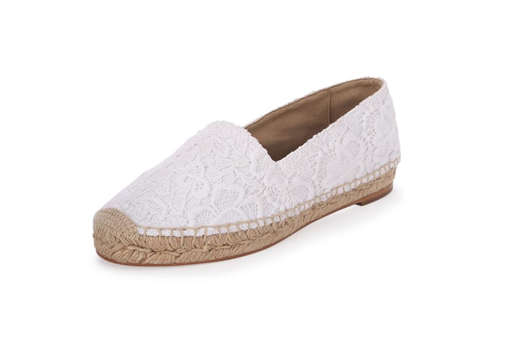 Stella McCartney Lace Espadrilles Wedding Shoes