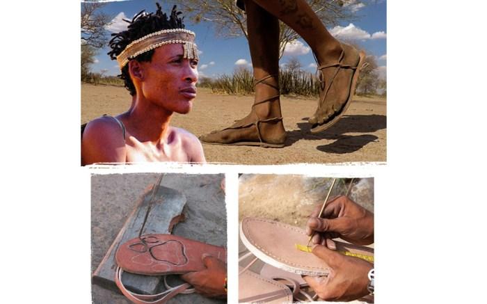 Ju/'hoansi bushman sandals