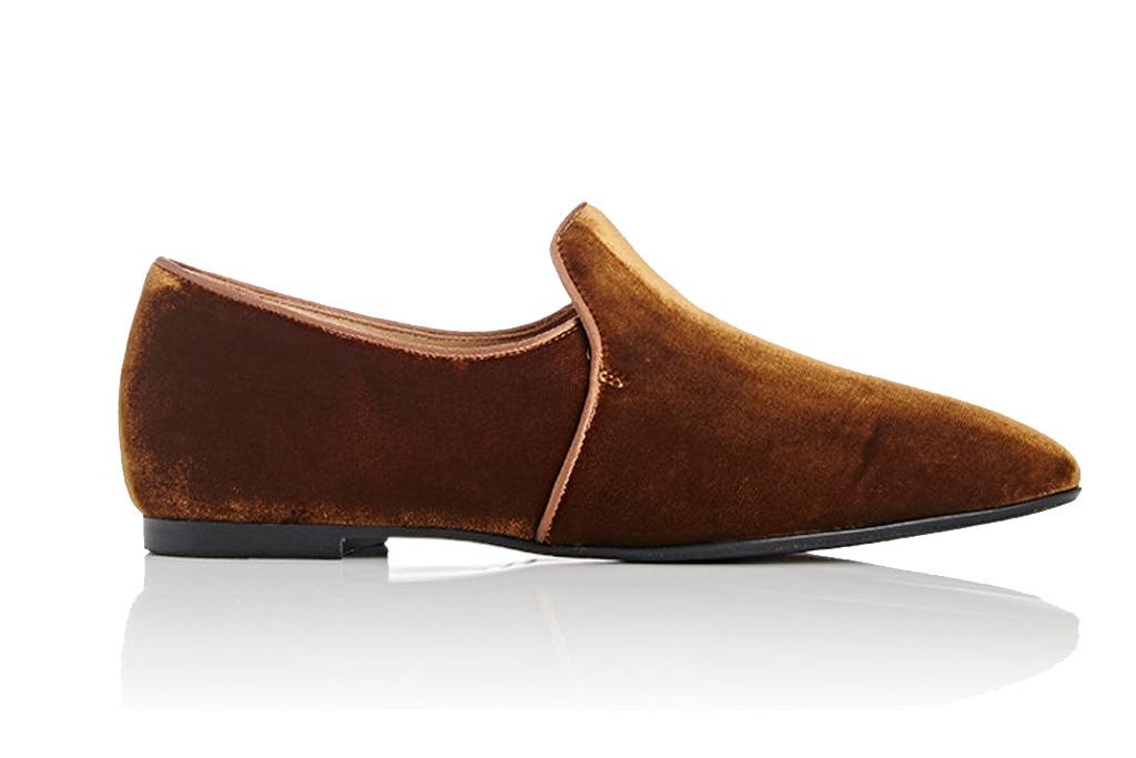 the row velvet loafer
