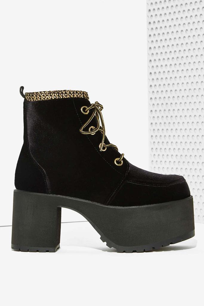TUK Nosebleed Velvet Platform Boots