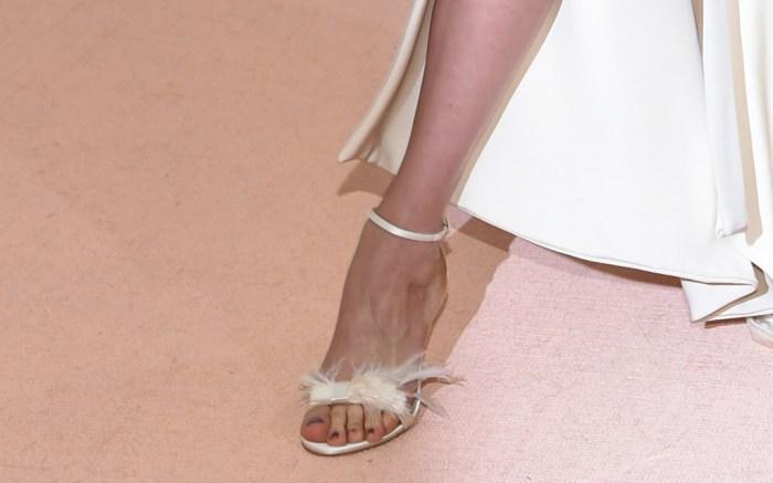 Uma Thurman Met Gala 2016 Red Carpet Shoes