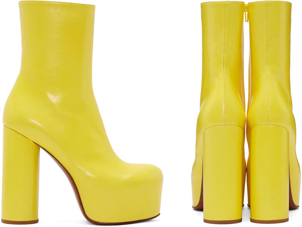Vetements Yellow Platform Boots