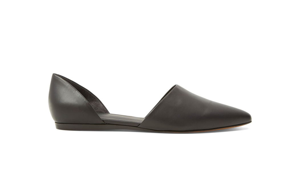 vince leather flat
