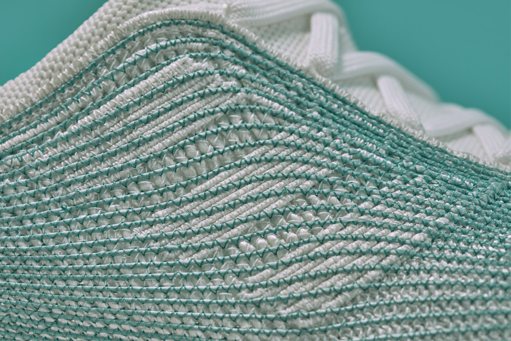 Close up of the Adidas x Parley for the Ocean sneakers
