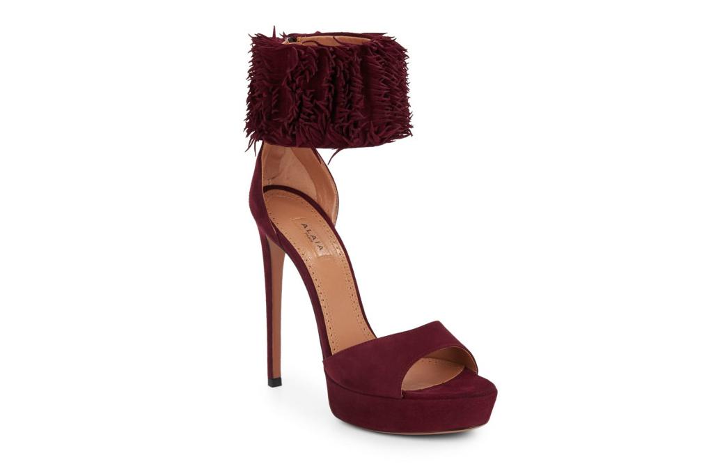 Azzedine Alaia Fringe Platform Sandals