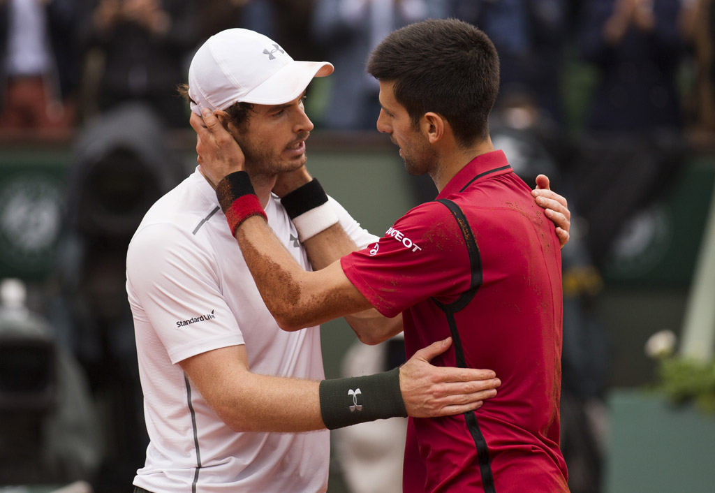 Novak Djokovic andy murray french open