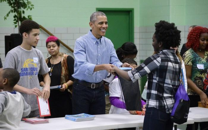 Barack Obama president volunteer