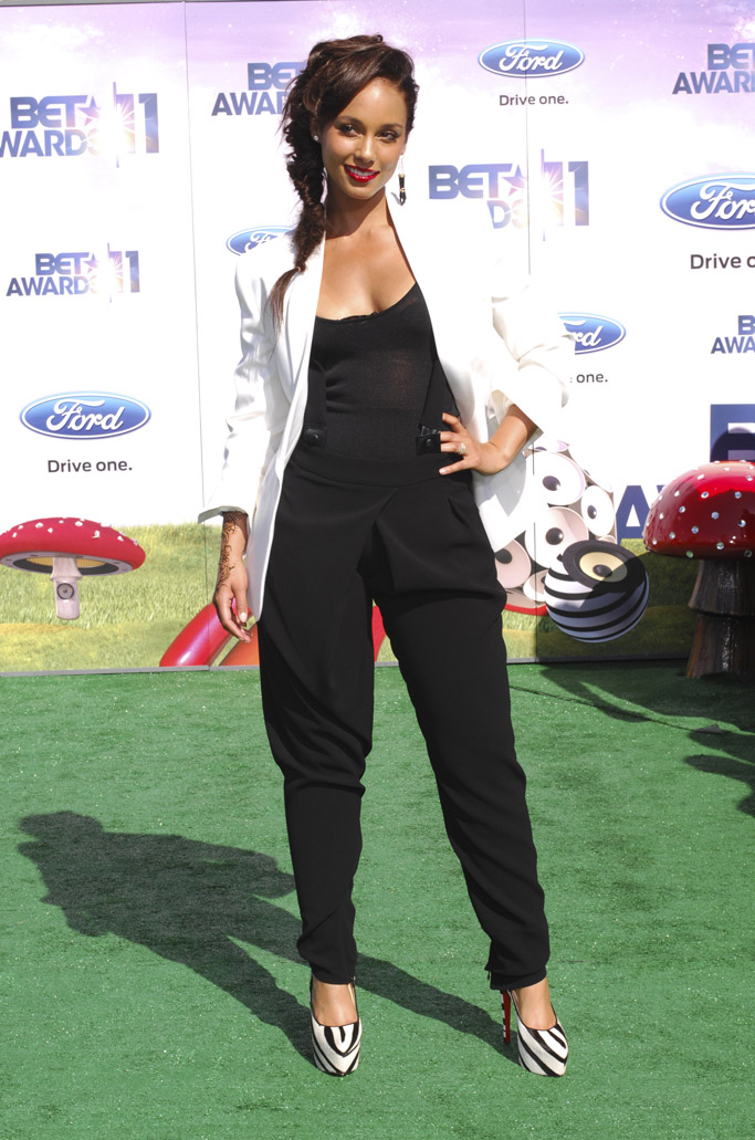 Alicia Keys BET Awards Red Carpet
