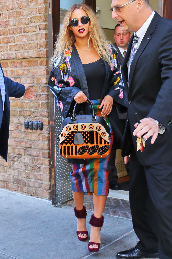 Beyoncé New York Alaia Fringe Platforms