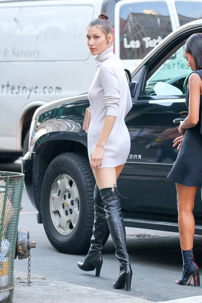 Celebrities Wearing Thigh-High Over-The-Knee Boots