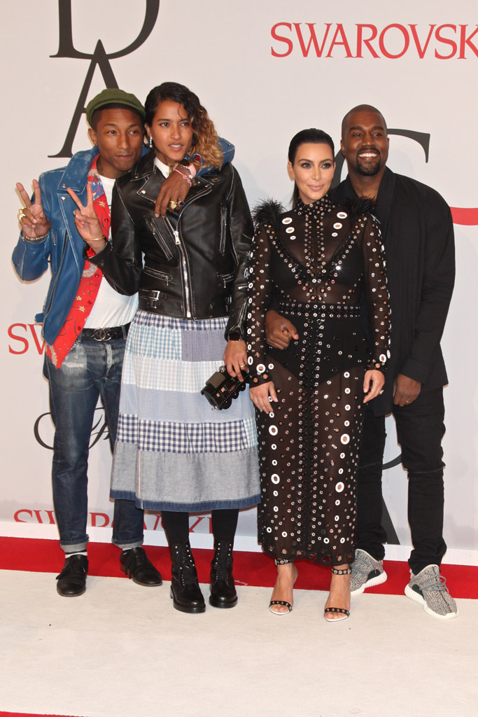 Pharrell Williams Kanye West CFDA Awards Red Carpet