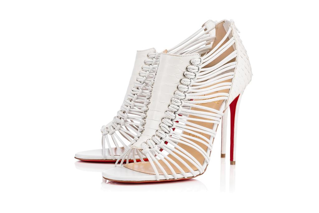 Christian Louboutin White Python Sandals
