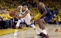 Stephen Curry LeBron James 2015 NBA
