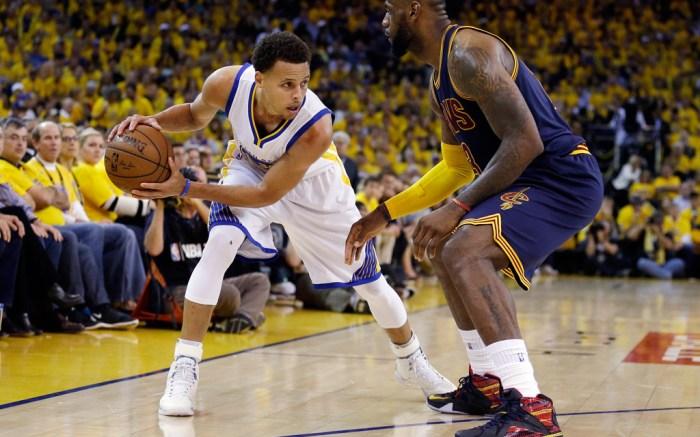 Stephen Curry LeBron James 2015 NBA Finals