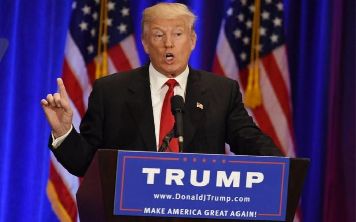 Donald Trump in New York in June 2016