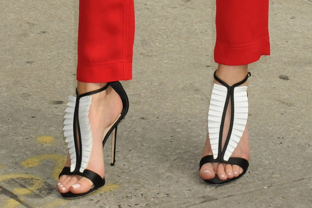 Erin Foster Celebrity Statement Shoes June 2016