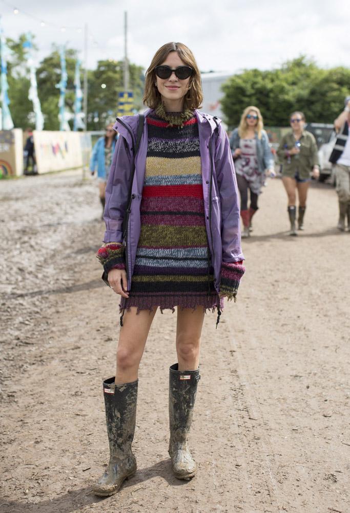 Alexa Chung Glastonbury Festival