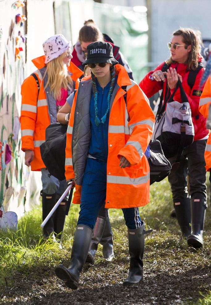 Cara Delevingne Glastonbury Festival