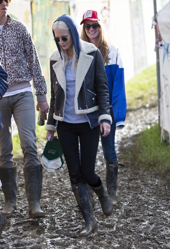 Poppy Delevingne Glastonbury Festival