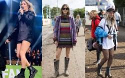 Glastonbury Festival Celebrity Style