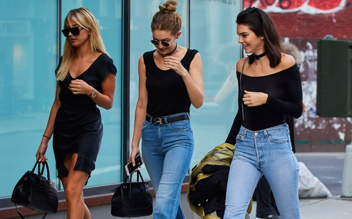 Hailey Baldwin, Gigi Hadid, Kendall Jenner in New York