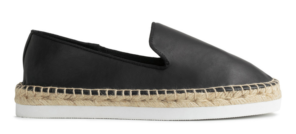 H&M black espadrille with two-tone sole