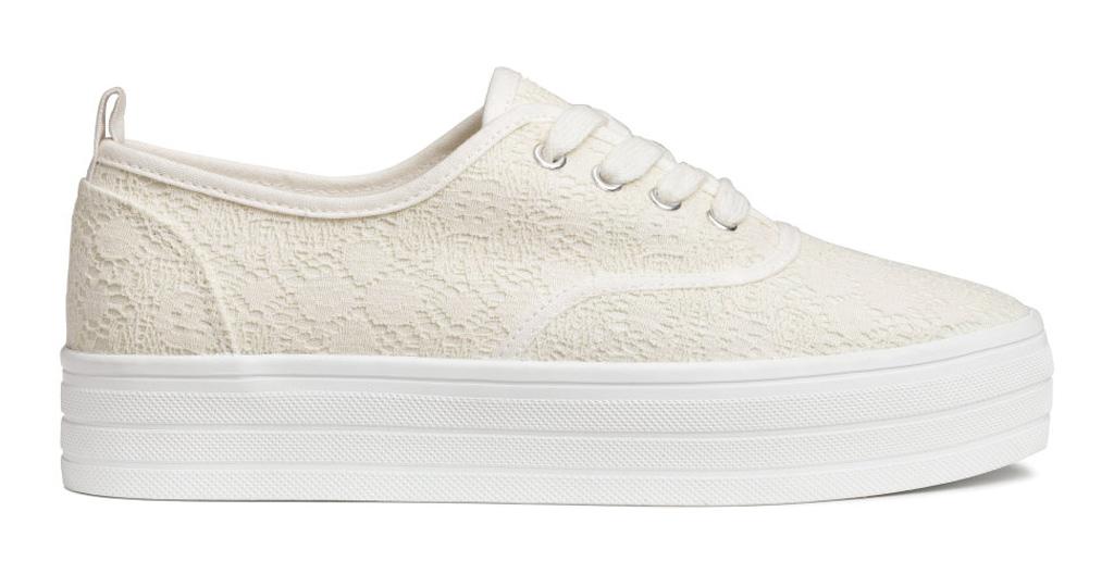 H&M lace-detail platform sneaker