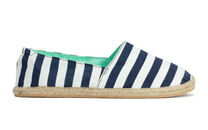 H&M Striped Espadrilles