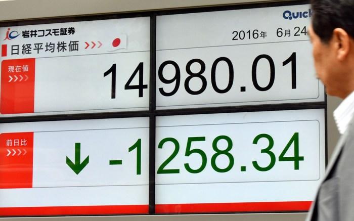 Japan stock market brexit