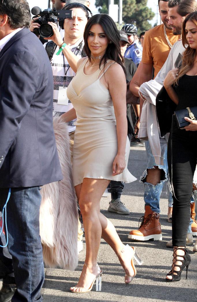 kim kardashian famous kanye west yeezy sandals
