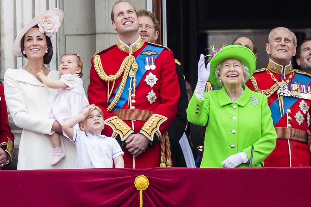 Kate Middleton, Princess Charlotte, Prince George, Prince William, Queen Elizabeth, Prince Phillip