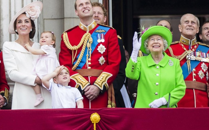 Kate Middleton, Princess Charlotte, Prince George, Prince William, Queen Elizabeth, Prince Phillip