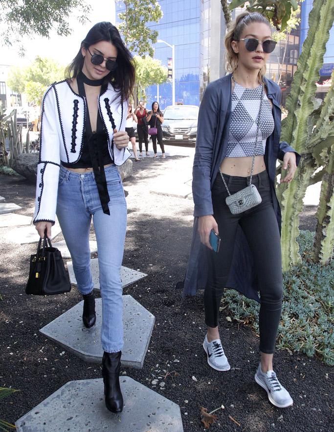 Kendall Jenner, Gigi Hadid Celebrity Statement Shoes June 2016