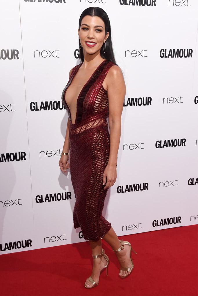 Kourtney Kardashian Women of the Year Awards Glamour UK 2016