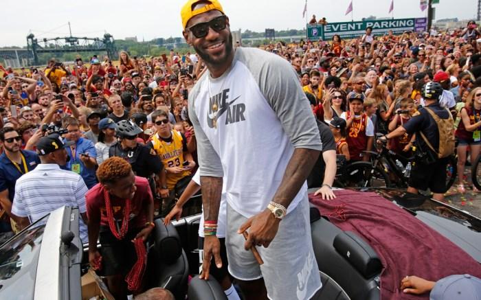 LeBron James Cleveland Cavaliers Parade