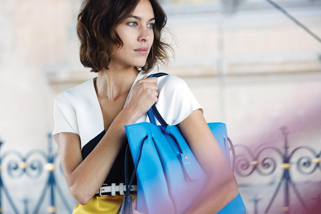 Alexa Chung; Longchamp