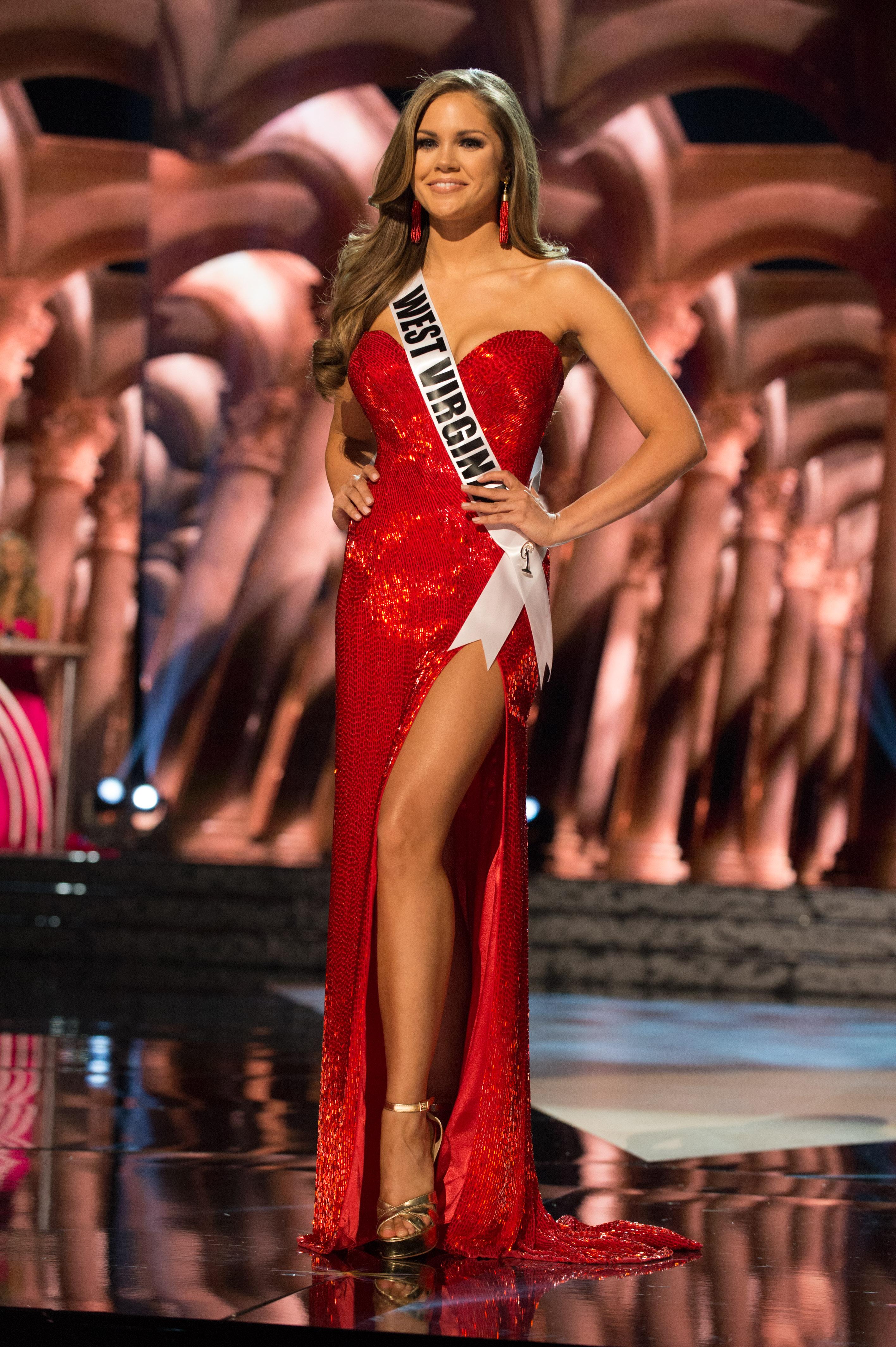 miss usa chinese laundry heels bikini evening gown